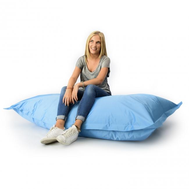 pouf g ant int rieur ext rieur bleu ciel 70. Black Bedroom Furniture Sets. Home Design Ideas