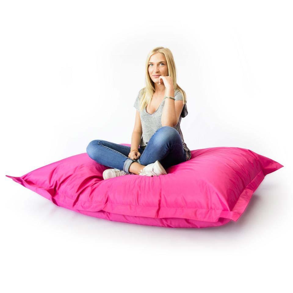 pouf g ant int rieur ext rieur noir 70. Black Bedroom Furniture Sets. Home Design Ideas