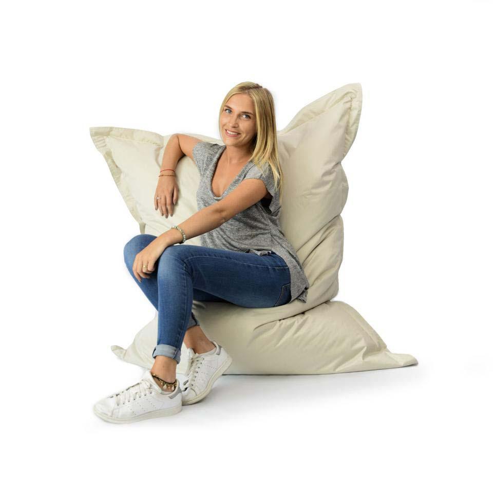 pouf g ant beige int rieur et ext rieur prix direct fabricant. Black Bedroom Furniture Sets. Home Design Ideas