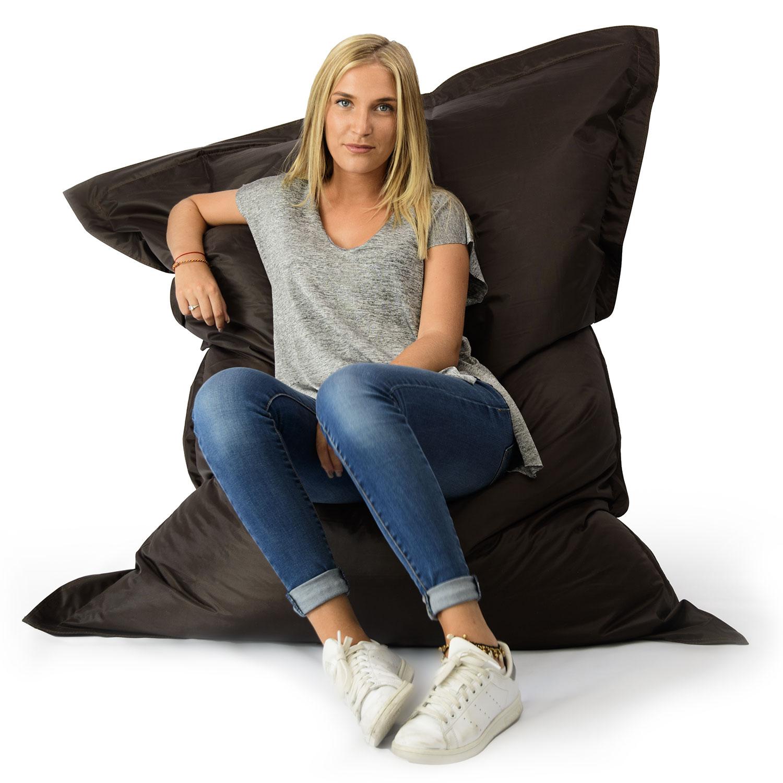 pouf g ant marron int rieur et ext rieur prix direct fabricant. Black Bedroom Furniture Sets. Home Design Ideas