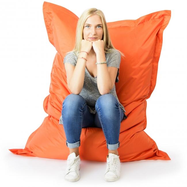 Pouf géant intérieur extérieur - Orange