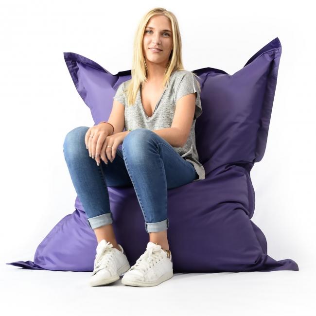 Pouf géant intérieur extérieur - Violet